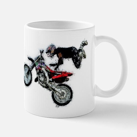 Motocross Jump Paint Splatter Mugs