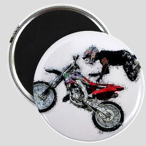 Motocross Jump Paint Splatter Magnets