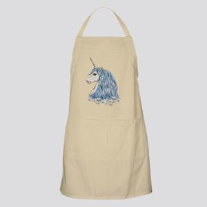 White Unicorn Drawing Apron