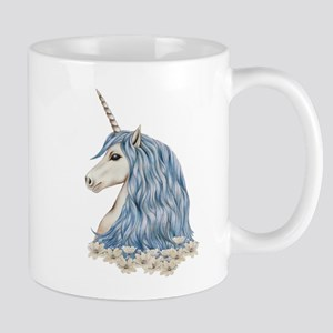 White Unicorn Drawing Mug