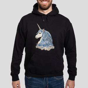White Unicorn Drawing Hoodie (dark)