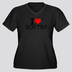 I Love Softball Plus Size T-Shirt