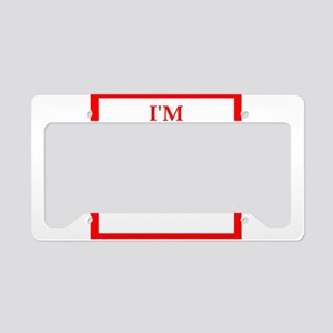 going to hell License Plate Holder