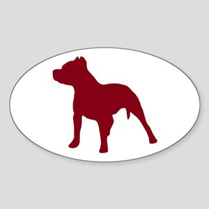 Pitbull Dk Red 1C Sticker