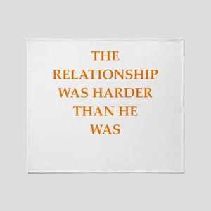 relationship Throw Blanket