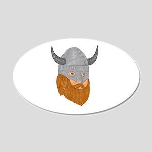 Viking Warrior Head Three Quarter View Drawing Wal