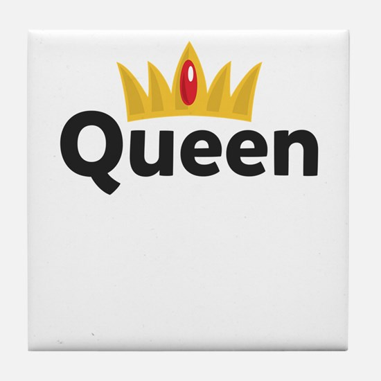 Funny King queen Tile Coaster