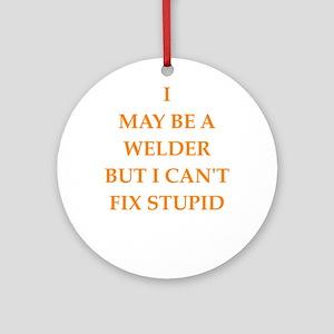 welder Round Ornament