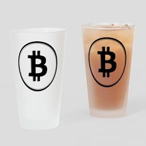 Bitcoin Drinking Glass