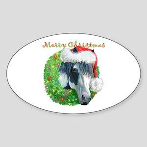 Merry Christmas Ziggy Oval Sticker