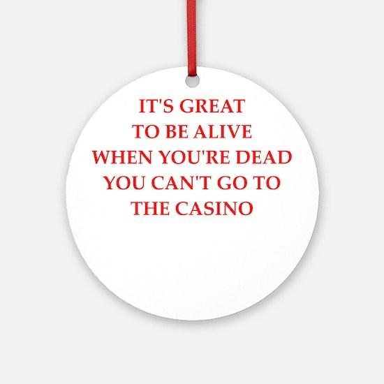 casino Round Ornament