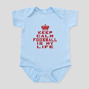 Keep Calm and Foosball Infant Bodysuit