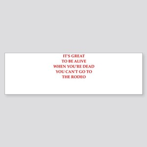 rodeo Bumper Sticker