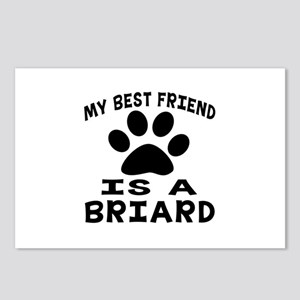 Briard Is My Best Friend Postcards (Package of 8)