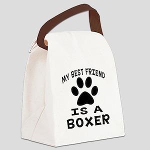 Boxer Is My Best Friend Canvas Lunch Bag