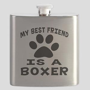 Boxer Is My Best Friend Flask
