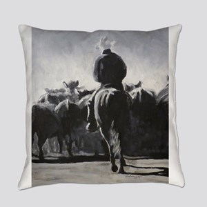Cattle Drive Everyday Pillow