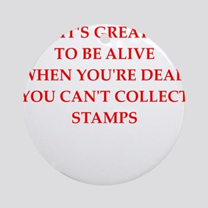 stamp Round Ornament
