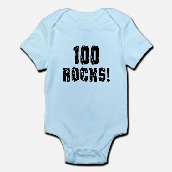 100 Rocks Birthday Designs Infant Bodysuit