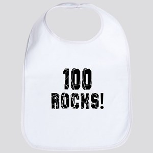 100 Rocks Birthday Designs Bib