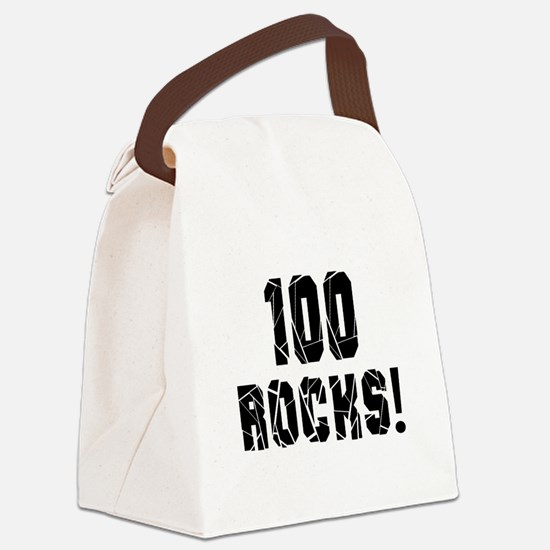 100 Rocks Birthday Designs Canvas Lunch Bag