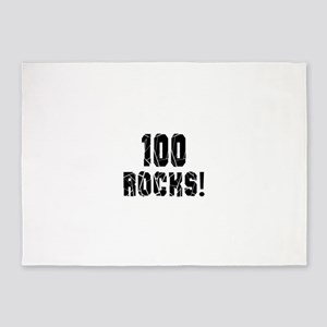 100 Rocks Birthday Designs 5'x7'Area Rug