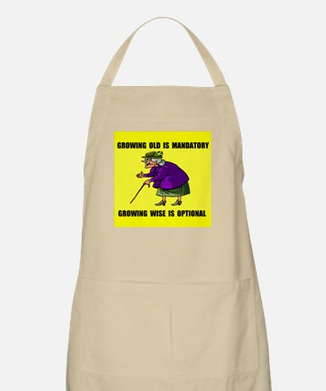 GROWING OLD BBQ Apron
