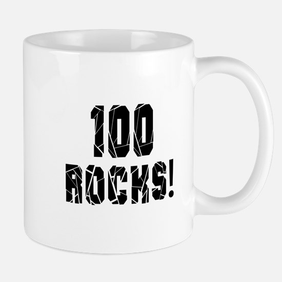 100 Rocks Birthday Designs Mug