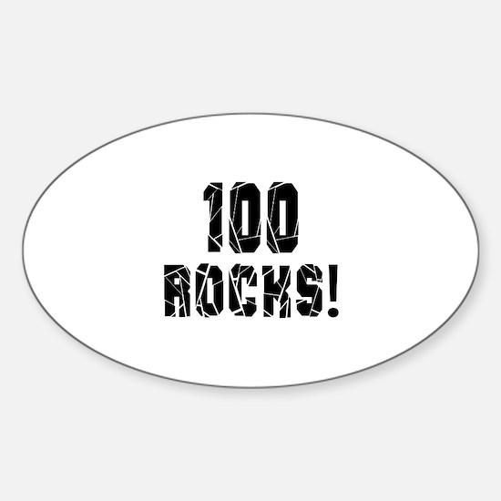 100 Rocks Birthday Designs Sticker (Oval)