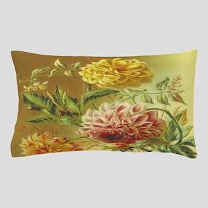 Jasmine Dahlia Vintage Flowers Pillow Case