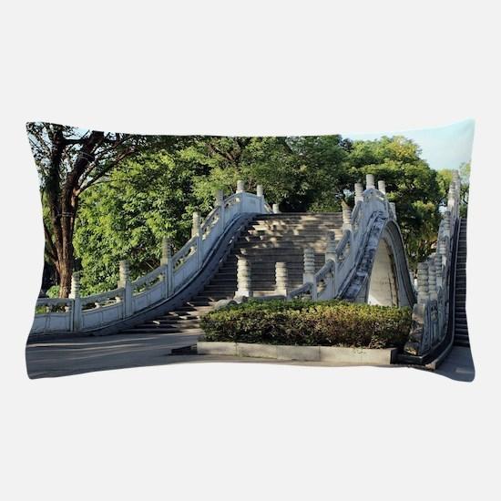 Double bridges, Guilin, China Pillow Case