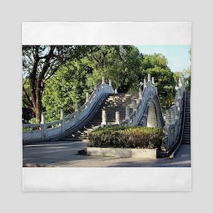 Double bridges, Guilin, China Queen Duvet