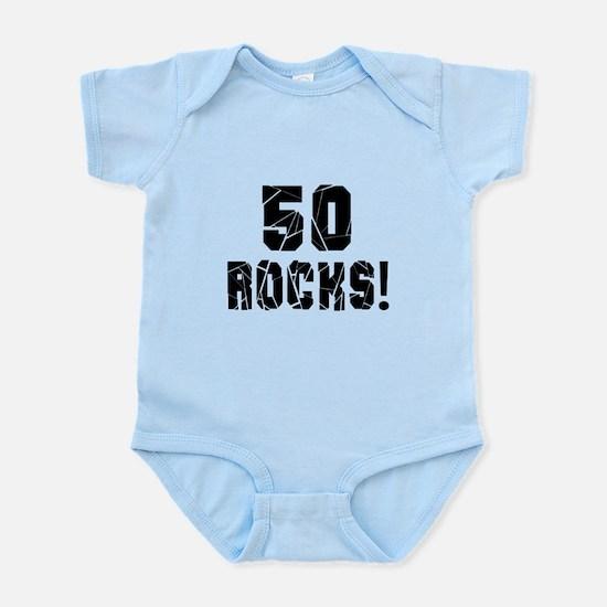 50 Rocks Birthday Designs Infant Bodysuit