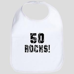 50 Rocks Birthday Designs Bib