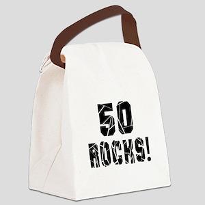 50 Rocks Birthday Designs Canvas Lunch Bag