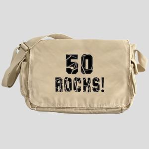 50 Rocks Birthday Designs Messenger Bag