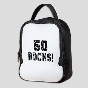 50 Rocks Birthday Designs Neoprene Lunch Bag