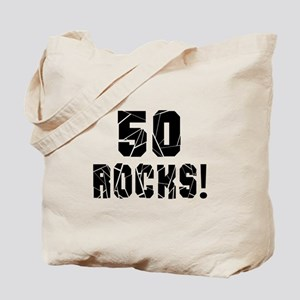 50 Rocks Birthday Designs Tote Bag