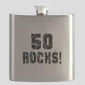 50 Rocks Birthday Designs Flask