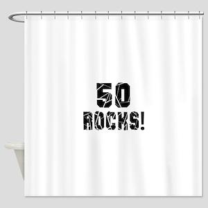 50 Rocks Birthday Designs Shower Curtain