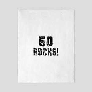 50 Rocks Birthday Designs Twin Duvet