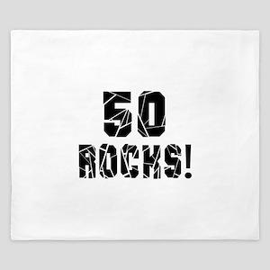 50 Rocks Birthday Designs King Duvet