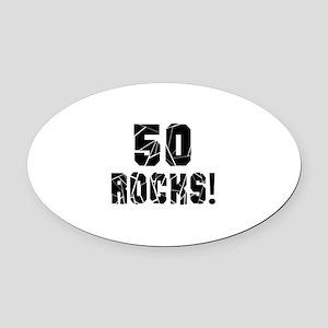 50 Rocks Birthday Designs Oval Car Magnet