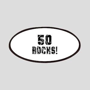 50 Rocks Birthday Designs Patch