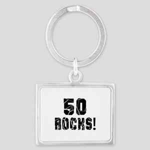 50 Rocks Birthday Designs Landscape Keychain