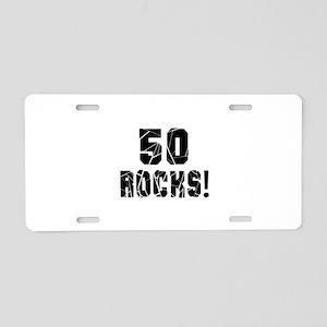 50 Rocks Birthday Designs Aluminum License Plate