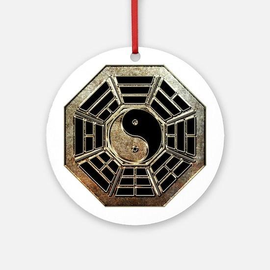 Yin Yang Bagua Round Ornament
