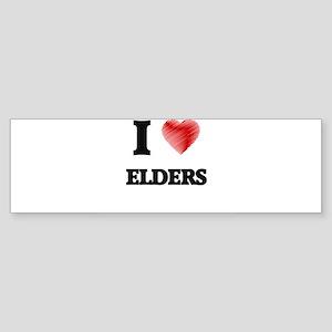 I love ELDERS Bumper Sticker