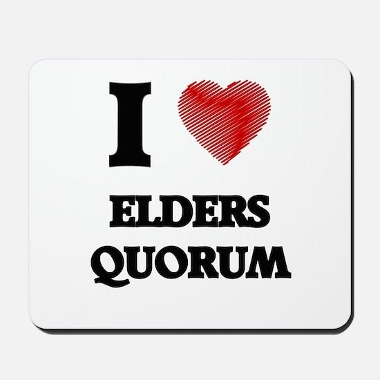 I love Elders Quorum Mousepad