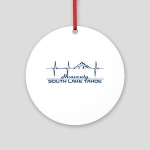 Heavenly Ski Resort - South Lake Round Ornament